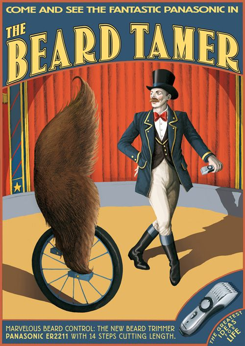 Борода в рекламе Panasonic