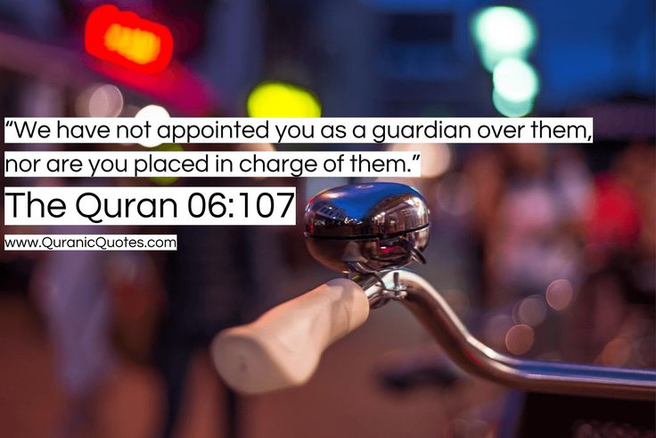 "#273 The Quran 06:107 (Surah al-An'am) ""But if Allah had willed, they would not have associated. And We have not appointed you over them as a guardian, nor are you placed in charge of them."""