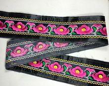 Miao borduurwerk satijn lace trim 6 cm jurk kraag lint tape singels etnische tribal nepal thai india boho diy accessoires(China (Mainland))