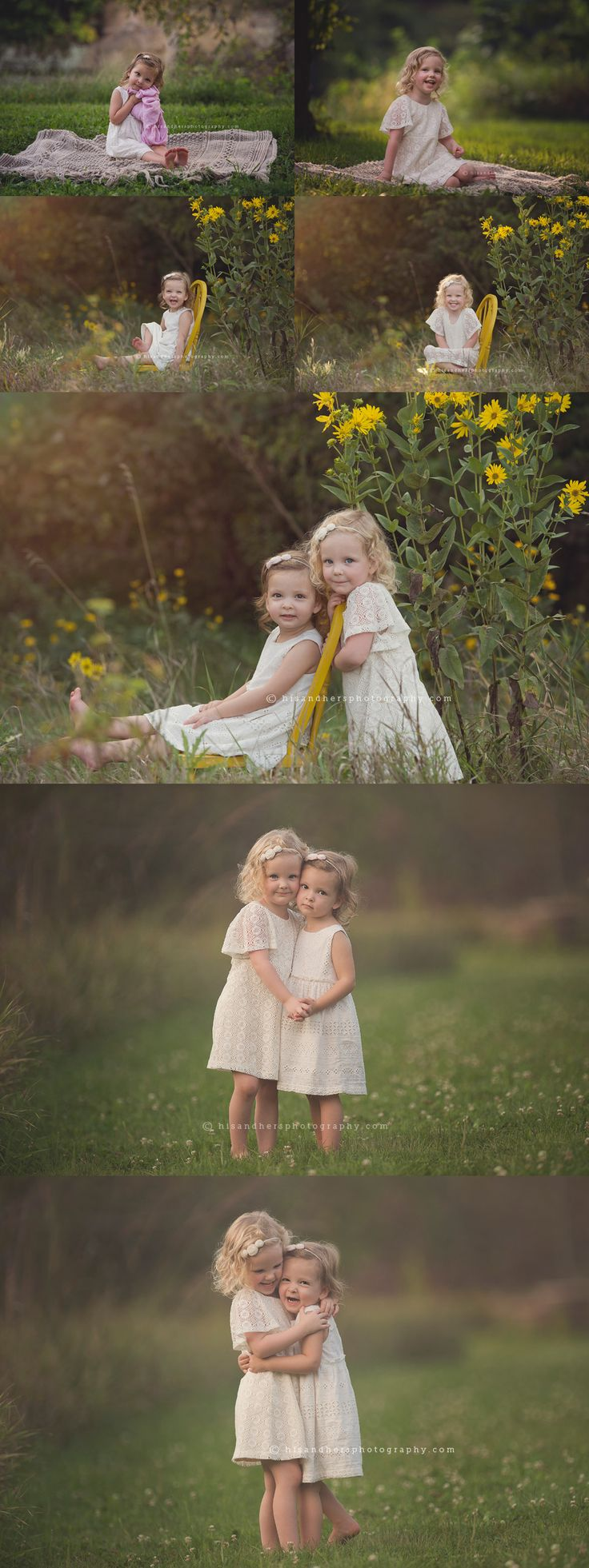 Sisters ages 2 and 3 | Des Moines, Iowa child photographer, Darcy Milder | His & Hers