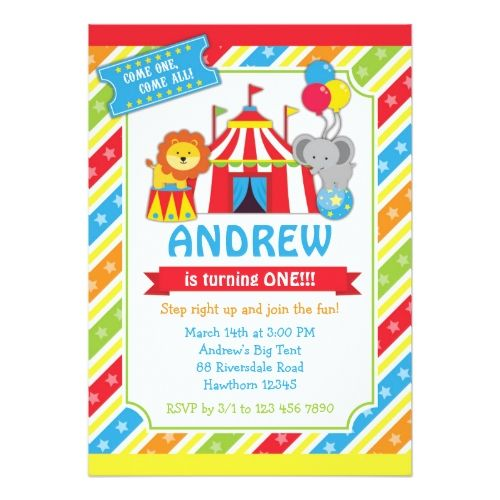 120 best circus birthday invitations images on pinterest circus circus birthday invitations circus invitation carnival invitation stopboris Image collections