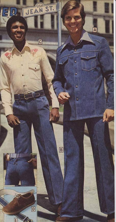 Denim was popular in the 70's