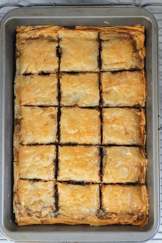 Chocolate Baklava | The Chef Next Door #SundaySupper
