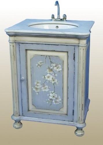 bath rm vanity: Sinks Consoles, Paintings Sinks, Bathroom Furniture, Hands Paintings, Sinks United, Bathroom Vanities, Blue Hands, Traditional Bathroom, Blue Bathroom