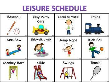 PECS Visuals: Leisure