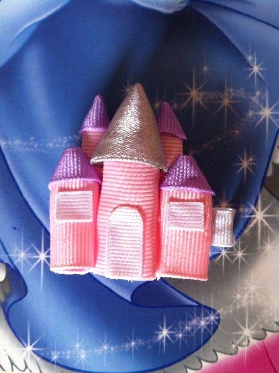 Princess Castle Ribbon Sculpture Hair Clip by SweetTangerineBoutiq, $6.00