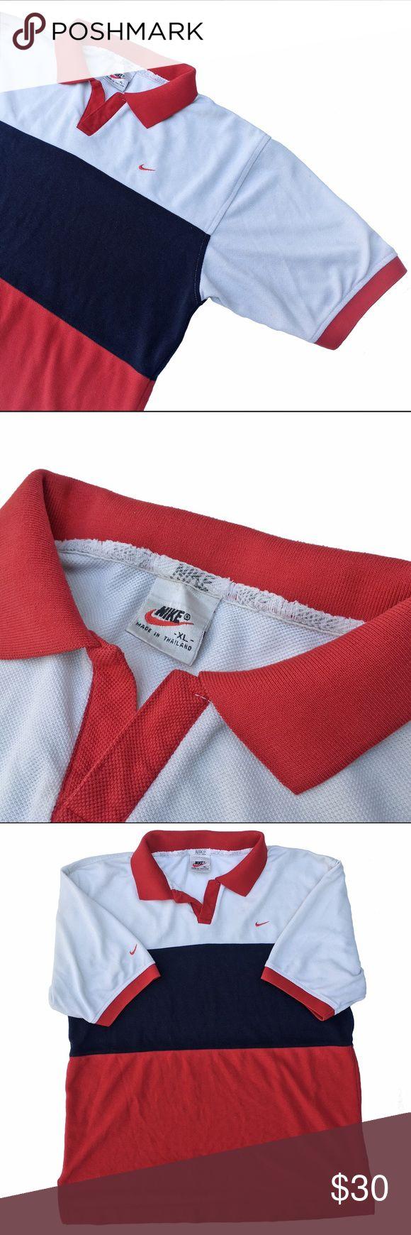 Vintage Nike polo shirt Vintage NIKE polo shirt. Size (XLarge) fits like a Size medium Nike Shirts Polos