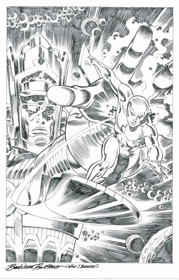 Galactus Creates The Silver Surfer By Ron Frenz After John