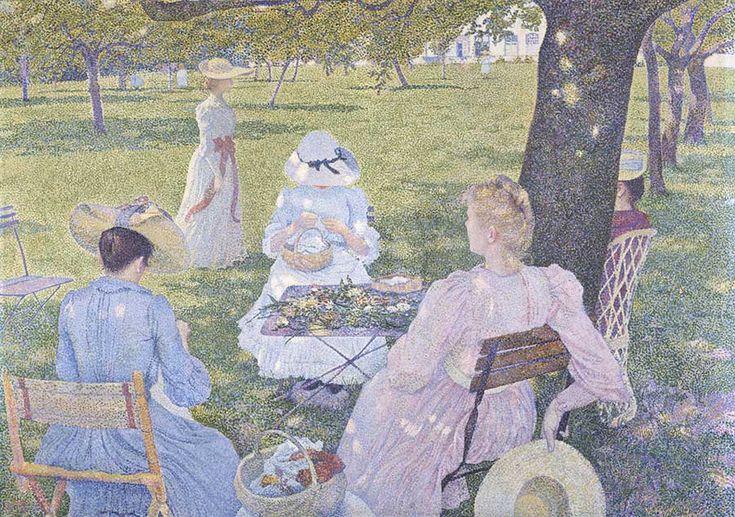 Van Rysselberge - Family in the garden