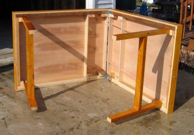 folding table building plans
