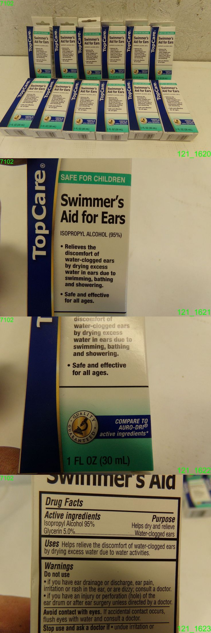 Ear Drops: 12 Pack: Topcare Swimmers Aid For Ears Water Drying Aid 1 Oz Compare To Auro-Dri -> BUY IT NOW ONLY: $33.95 on eBay!