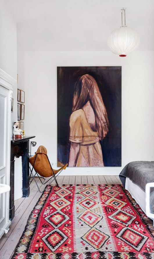 oversized artwork in artist's amsterdam home via vtwonen. / sfgirlbybay