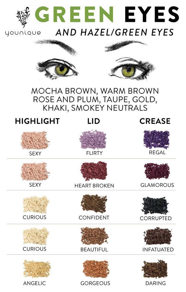 Eye makeup to make those beautiful green eyes stand out!