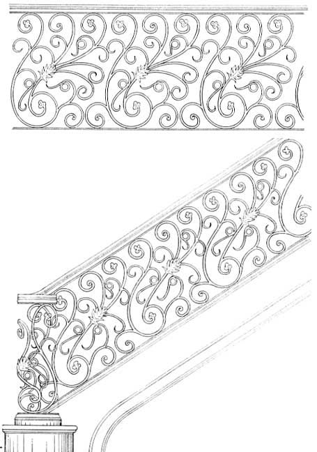 stair railing designs isr084