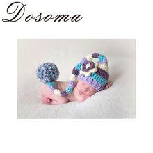 Большой Hairballs ребенка крючком шляпа ручной крючком новорожденный фотографии реквизит новорожденных крючком наряды комплект одежды(China (Mainland))