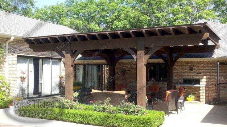pergola with roof - westerntimberframe.com