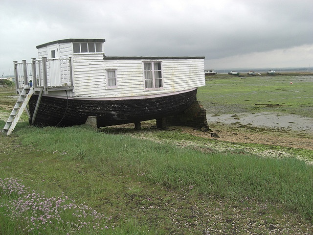 Old houseboat at the Kench, Hayling Island by *germalene*, via Flickr