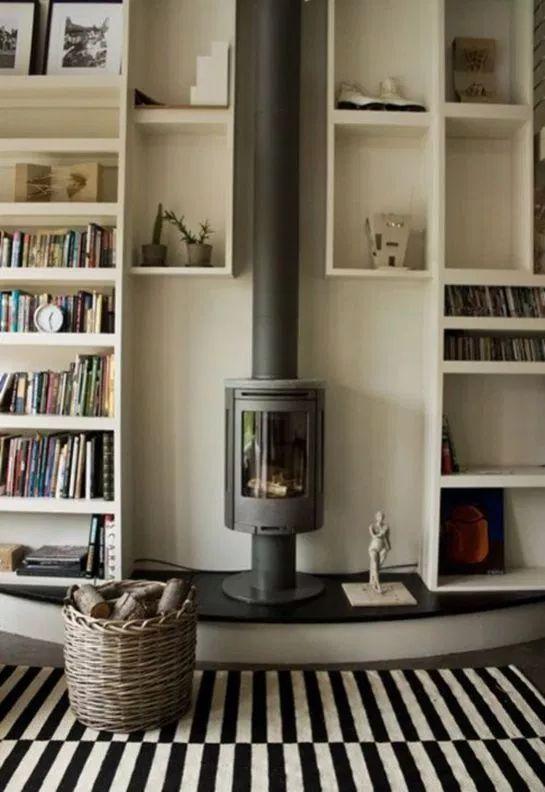 30+ Fantastic Contemporary Wood Burning Stove Ideas