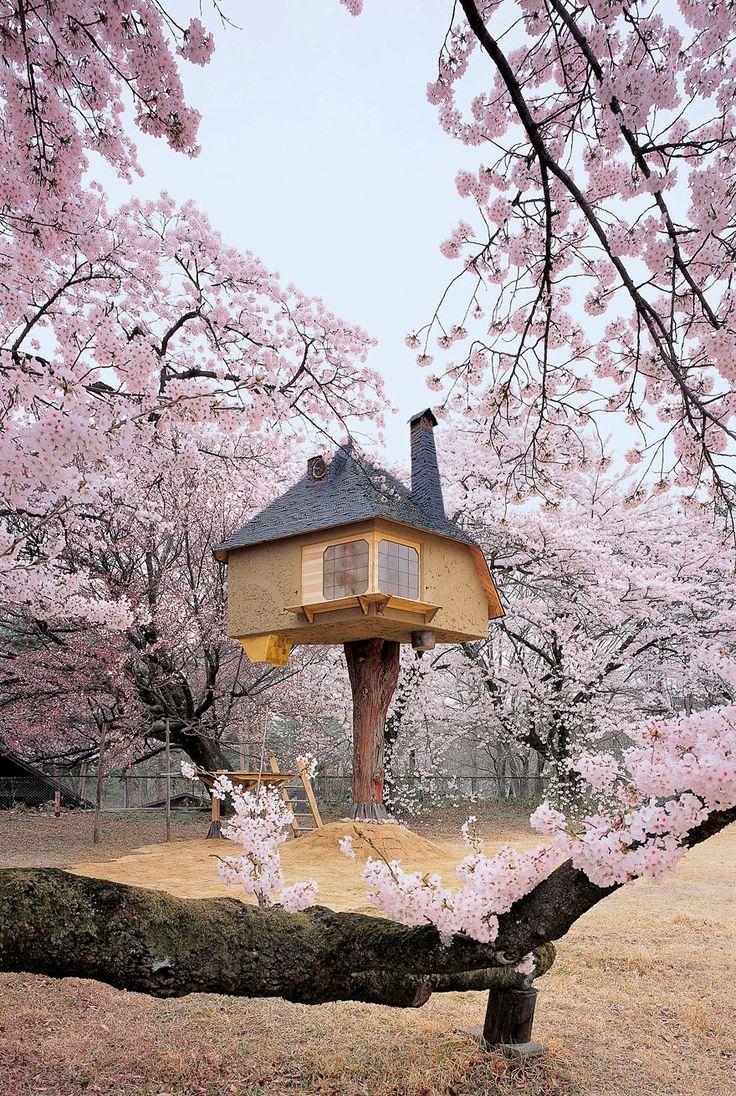 Teahouse Tetsu Arquiteto Terunobu Fujimori criou esta incrível fantasia cheios casa na árvore. Parece que ele é em linha reta fora da imaginação de uma criança.