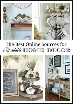 Where to buy inexpensive and unique home decor online, sources for online shops for decorative home accessories.