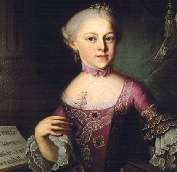 """Mozarts Schwester """"Nannerl"""", mit der er als Kind auftrat."""
