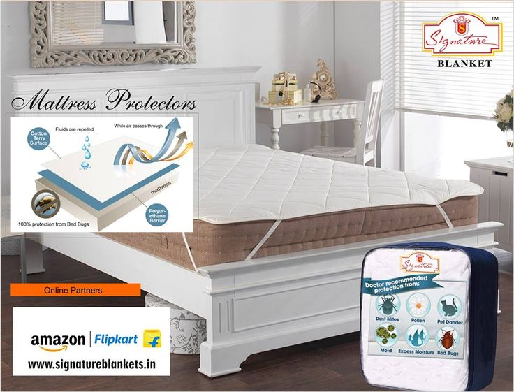 Sweet dreams start right here with our complete collection of Signature mattress protectors. Give your little dreamers the healthy sleep support they need. log on to www.signatureblankets.in to order your #mattress #protector now.