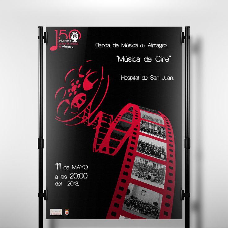 Cartel concierto de Música de Cine.