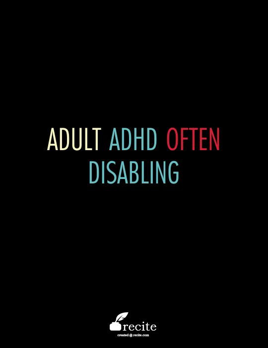 Adult Inattentive Add 45