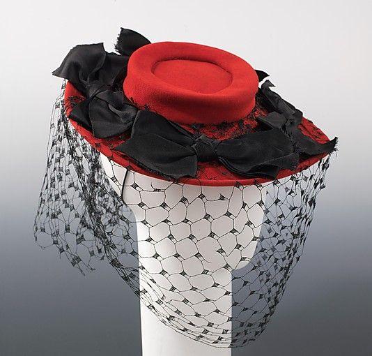 Bergdorf Goodman (American, founded 1899). Hat, 1944. The Metropolitan Museum of Art, New York. Brooklyn Museum Costume Collection at The Metropolitan Museum of Art, Gift of the Brooklyn Museum, 2009; Gift of Mrs. R. A. Bernatschke, 1955 (2009.300.2431)