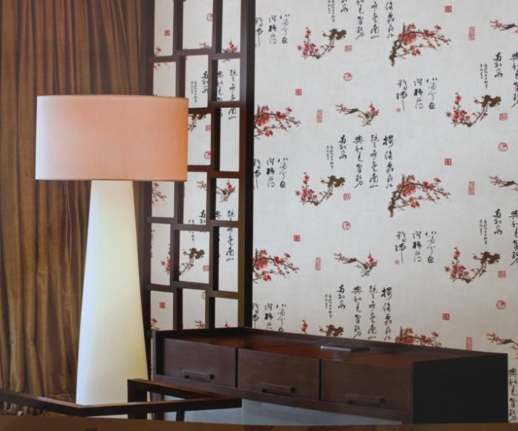 52.00$  Buy here - http://ali229.worldwells.pw/go.php?t=494955702 - 2015 Special Offer Epp Commerce Papel De Parede Photo Wallpaper New Retro Wallpaper Chinese Calligraphy Painting Den Tv Backdrop 52.00$