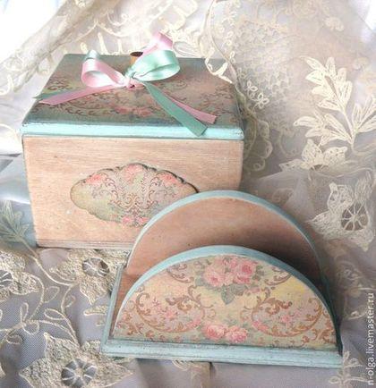 Чайная шкатулка в винтажном стиле, чайный короб в винтажном стиле, комплект для кухни, комплект для чаепития, купить необычный подарок, подарок ручной работы, шкатулка - короб для чая, шкатулка для чайных пакетиков, набор для кухни, подарок начальнице, подарок коллеге, необычны подарок, подарок ручной работы.