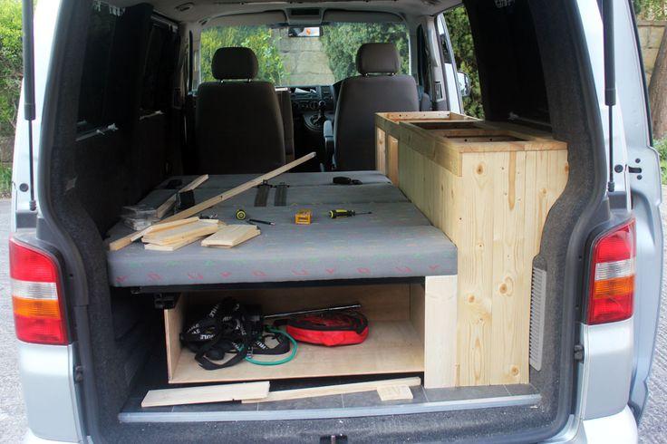 80 best vw transporter t5 camper van conversion images on for Camper van kitchen units