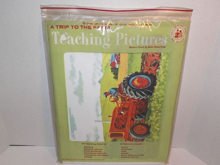 Teaching Pictures Trip To The Farm1966 David C Cook Resource Sheets Complete  #TeachingPictures