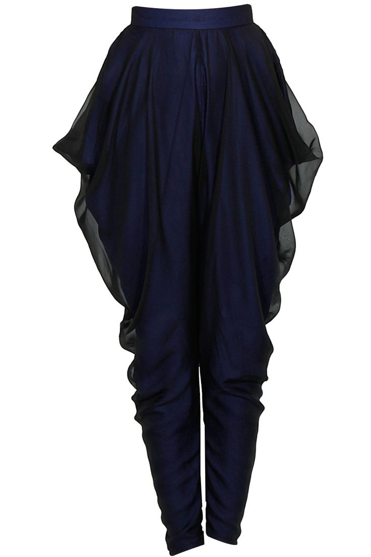 Blue draped dhoti pants available only at Pernia's Pop Up Shop.
