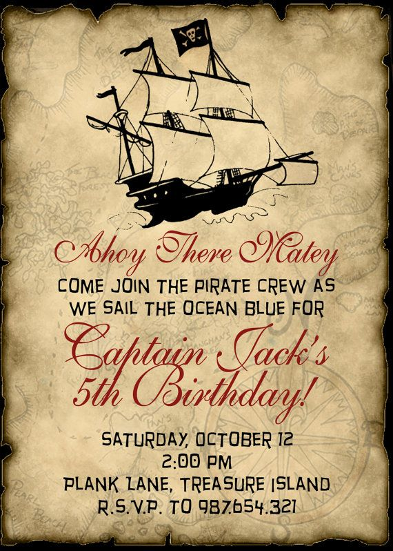 pirate birthday invitation it s my party i ll cry if i want to