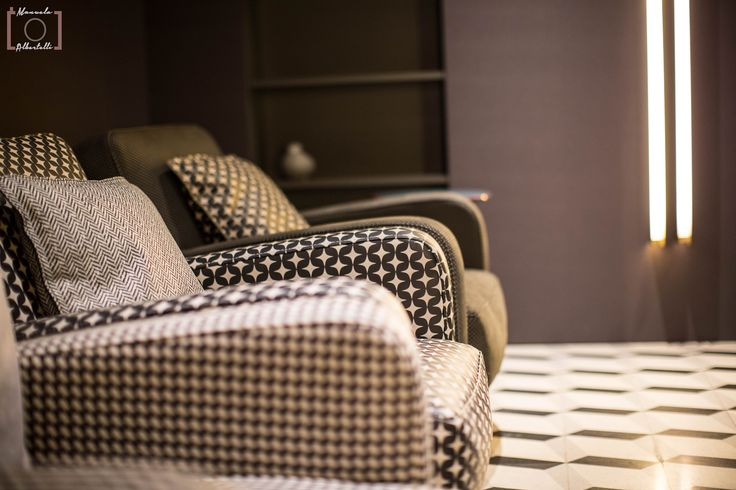 Sofa texture & details at Baxter Cinema.  Photo is courtesy of Dennis Zoppi and Manuela Albertelli. #BaxterCinema