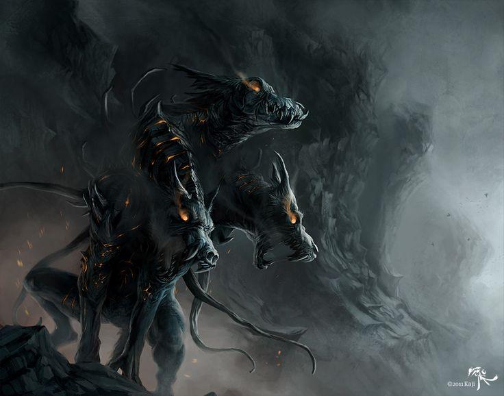 Hellhound by Kajito.deviantart.com on @DeviantArt