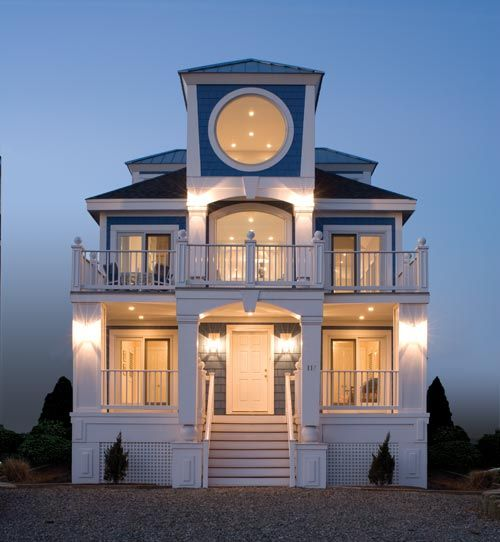 A finished custom home exterior Coastal Delaware