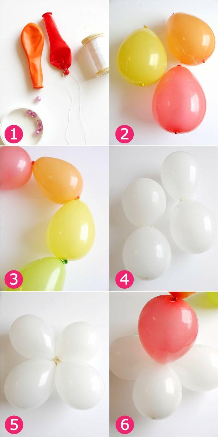 Bowling pin balloons - Diy Easy Rainbow Balloon Arch