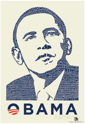 Obama Yes We Can Speech Text Poster Prints at AllPosters.com