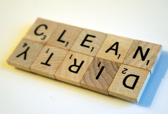 CLEAN or DIRTY SCRABBLE (r) Dishwasher Magnet - Great Gift for Housewarming,
