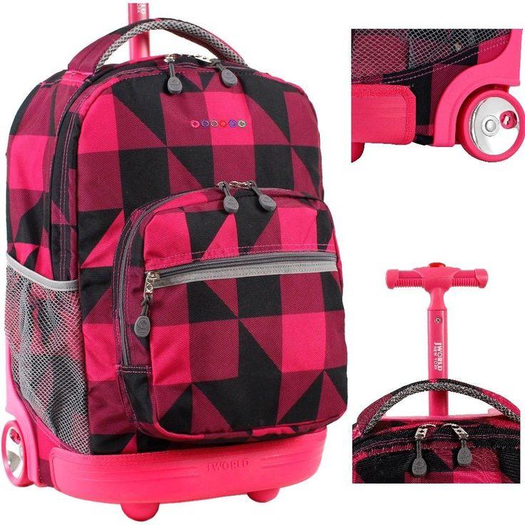 #Kids Rolling Backpacks J World New York Sunrise 18 Inch #Rolling #Backpacks Pink #JWorld #Backpack #ShoppingOnlineDeals #DanAnnStore #Buyablepins