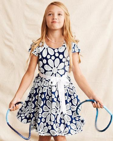 Daisy Cutout Dress by Halabaloo - Girls