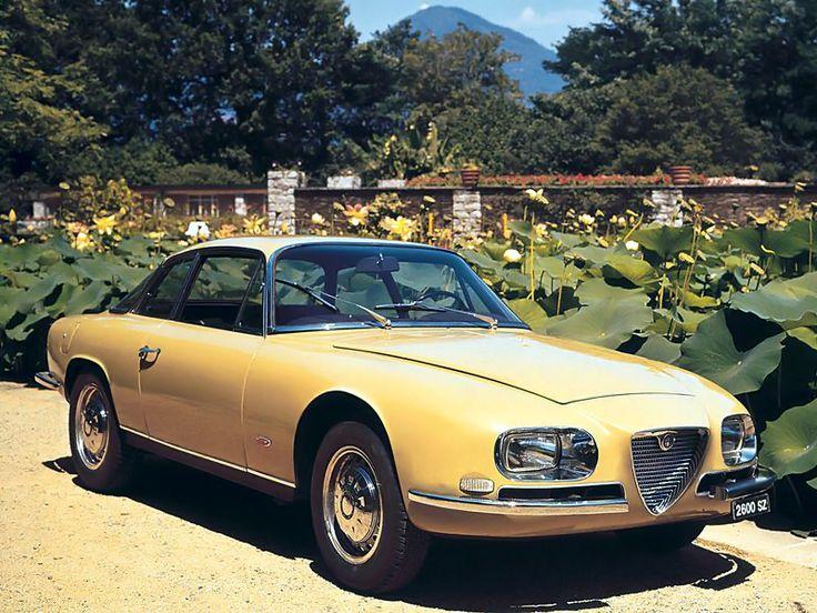 [The 1965 Alfa Romeo 2600 SZ, designed by Zagato. It features Alfa's last dual-overhead cam 2.6l str