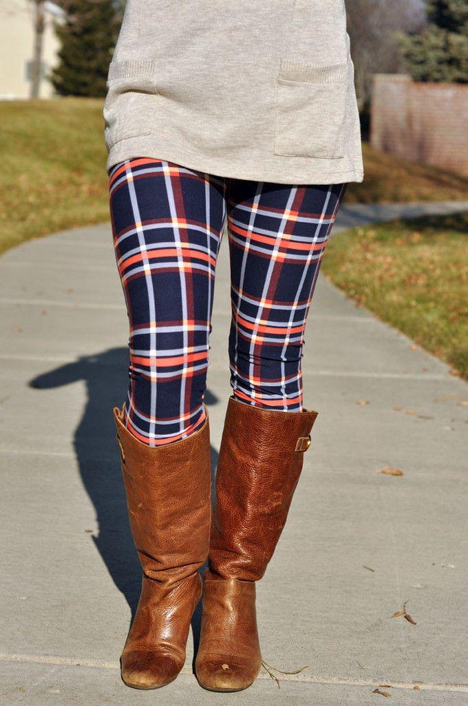 Plaid Leggings #plaid #leggings