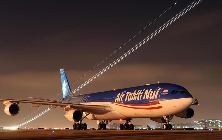 Air Tahiti Nui A340 -300 at LAX @ SpeedbirdHD: Airline Dawn