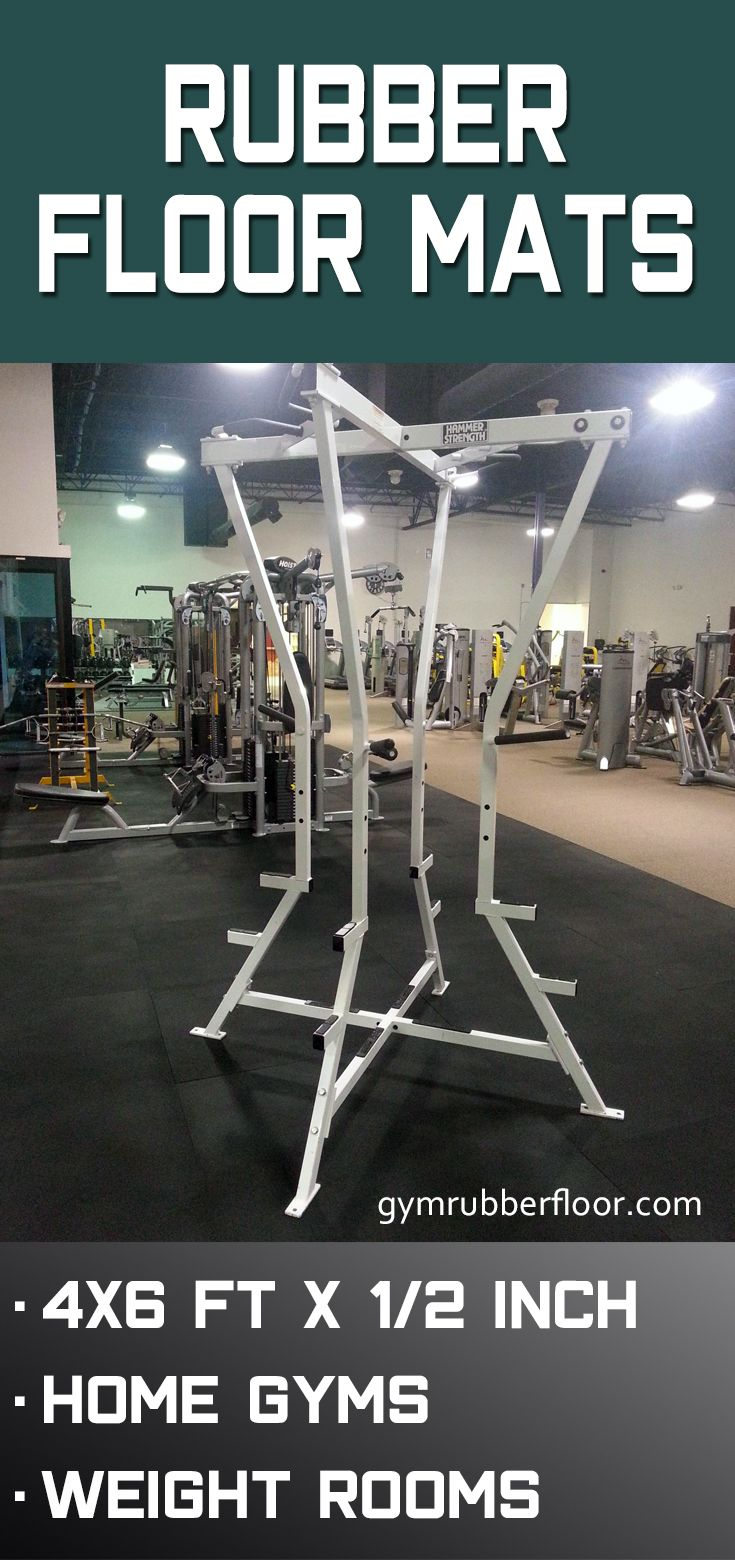 Gym Rubber Floor Mat 4x6 Ft X 1 2 Inch Black Gym Flooring Rubber Rubber Flooring Workout Room Flooring