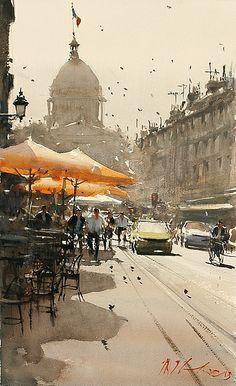 Resultado de imagen de joseph zbukvic watercolors