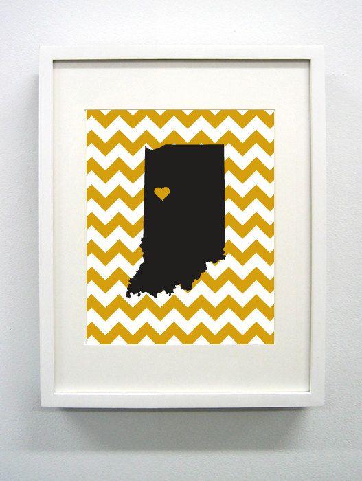 Purdue University Giclée Print  8x10  Go by PaintedPost on Etsy, $14.00