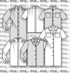 Moldes de camisas e vestidos chemisier